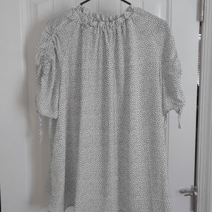 NWT Eloquii White with Black Dots Top